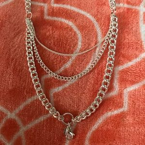 "Silver multi-layer origami Owl Chain 26""-28"""